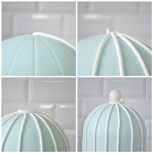 How to create a birdcage with royal frosting