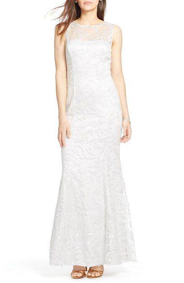 Lauren Ralph Lauren Sequin Tulle Gown available at #Nordstrom