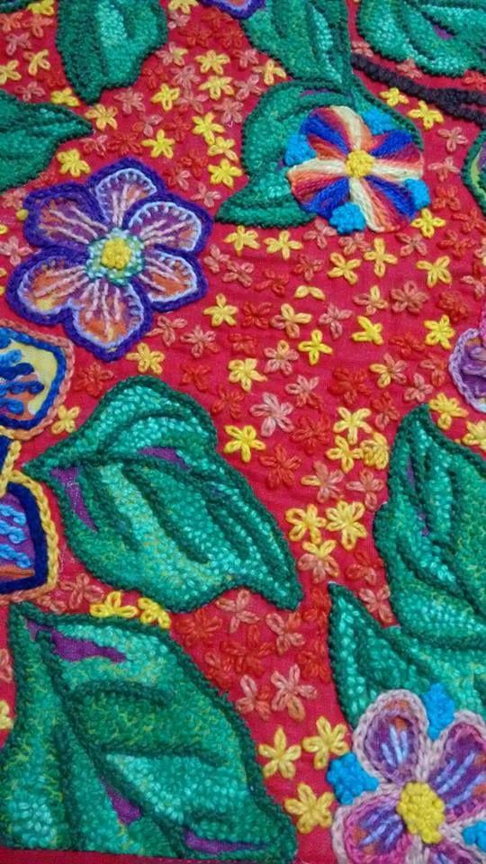 Knitting Embroidery Bordado : Bordado em chita … pinteres…