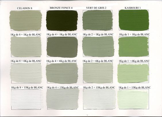 Les couleurs de peinture nuances and couleur on pinterest for Les differents gris en peinture
