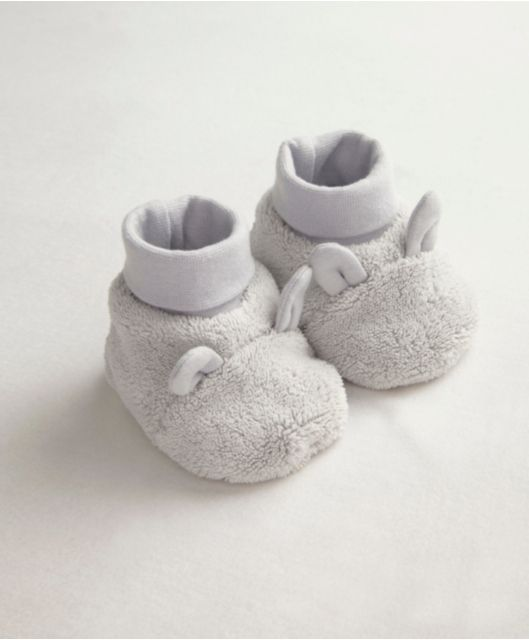 Unisex Welcome To The World Velour Booties baby infant toddler