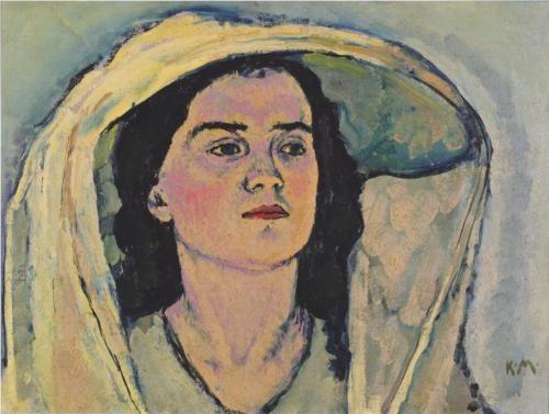 Study of Portrait of Venus in the Grotto - Koloman Moser
