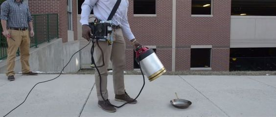 Engineering students use sound waves to put out fires