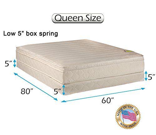 Dream Solutions Usa Comfort Pedic Eurotop Pillowtop Firm Queen Size Mattress Low 5 Mattress Box Spring Queen Mattress