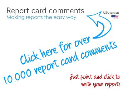 Report writing comments bank ks1