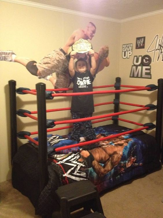 Diy wrestling bed step by step instructions diy home for Boxing bedroom ideas