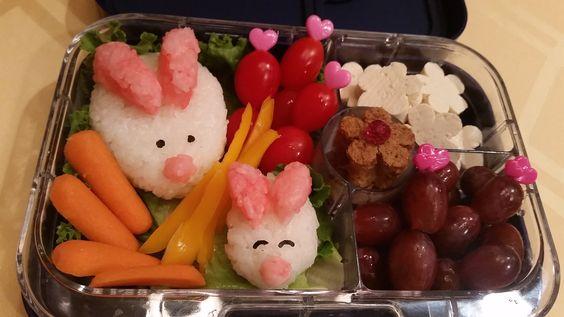 Bunny Bento. Cute for Easter