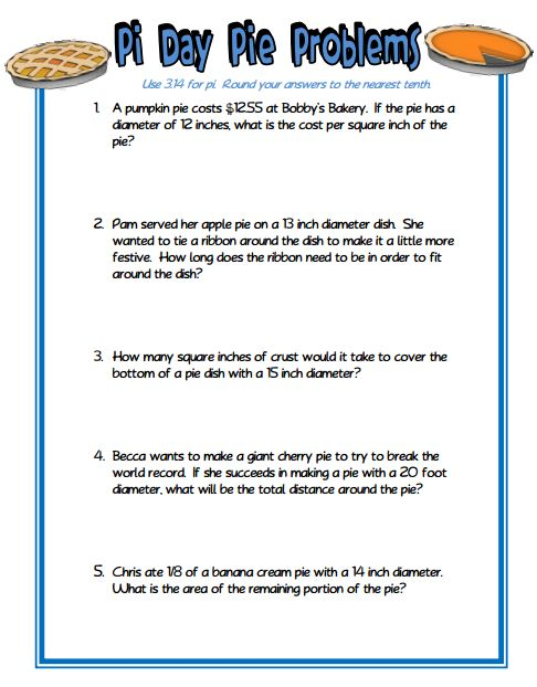 Circumference worksheets word problems