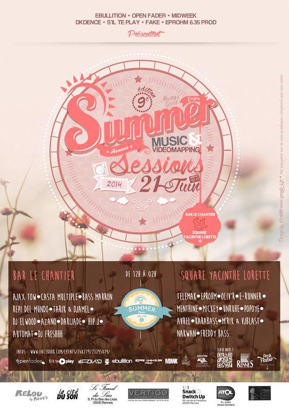 Affiche Summer Session #9 21 juin 2014 à Rennes