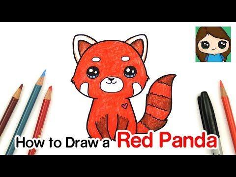 Draw So Cute Youtube Red Panda Cartoon Panda Art Red Panda