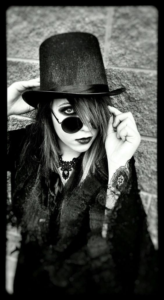 Goth photography dark picture black and white. #Cassidy