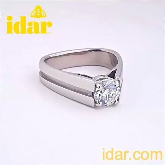 Handmade ring by Idar and set with a spectacular 1.10 ct. Forevermark diamond.