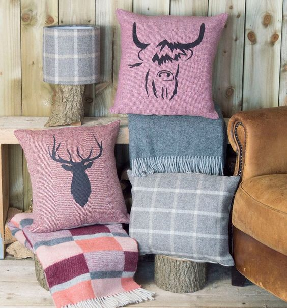 Unique Cushions & Throws. Handmade in the UK using locally sourced Linen & Tweed.
