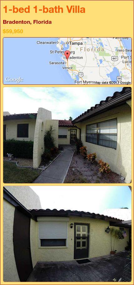 1-bed 1-bath Villa in Bradenton, Florida ►$59,950 #PropertyForSale #RealEstate #Florida http://florida-magic.com/properties/91012-villa-for-sale-in-bradenton-florida-with-1-bedroom-1-bathroom