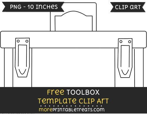 Free Toolbox Template Clipart Clip Art Tool Box Templates