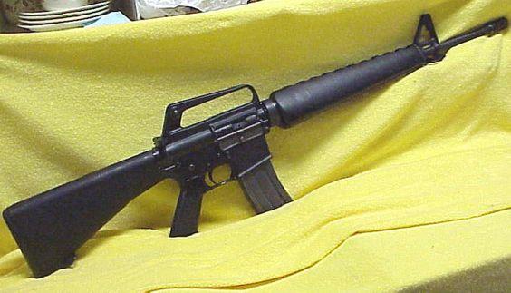 This is a pre-nato, Colt AR 15 (.223)  Good maneuverability + firepower