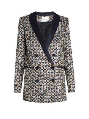 Aquila circle-jacquard double-breasted jacket | Racil | MATCHESFASHION.COM US