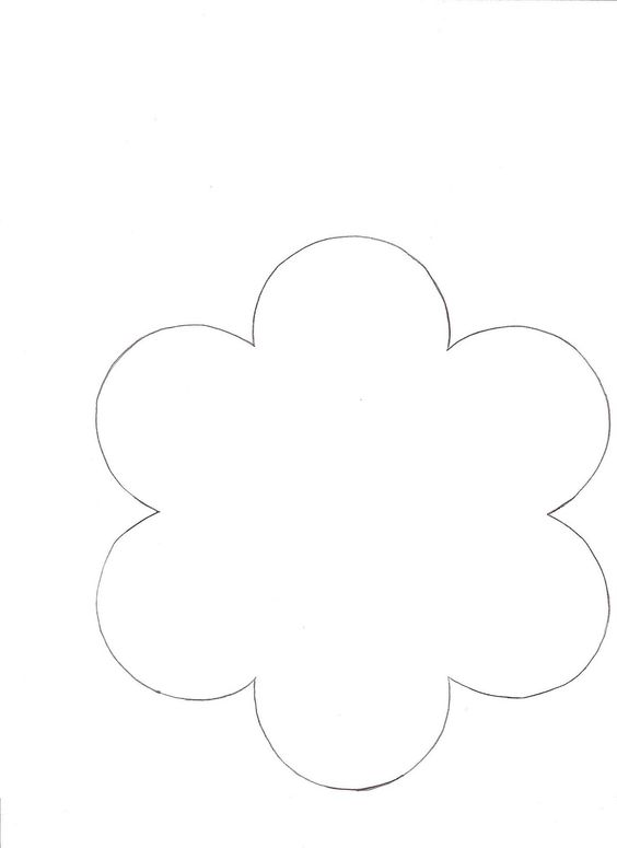 6 petal flower template all patterns pinterest for 12 petal flower template