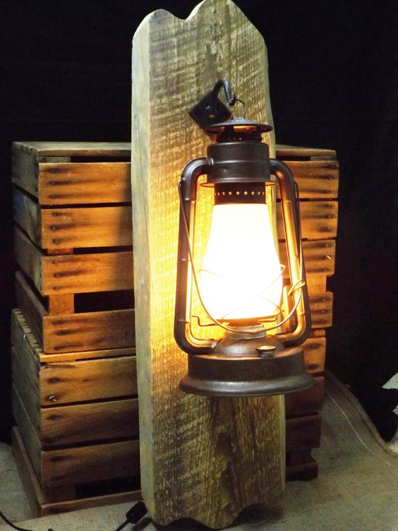 Lighting, Rustic walls and Electric lantern on Pinterest