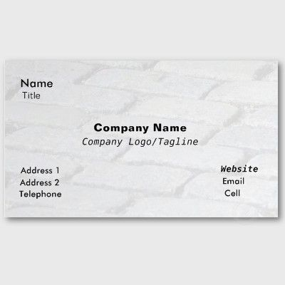 COBBLESTONE ABSTRACT BUSINESS CARD, by The Flying Pig Gallery on Zazzle (lizadeyphoto) - This Cobblestone Abstract Business Card is ideal for Stonemasons, Pavers, Contractors or many other businesses. Text may be customized according to your needs.