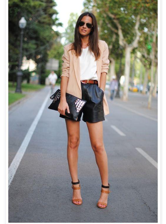 10 Looks Formales Usando Shorts De Vestir Short De Vestir