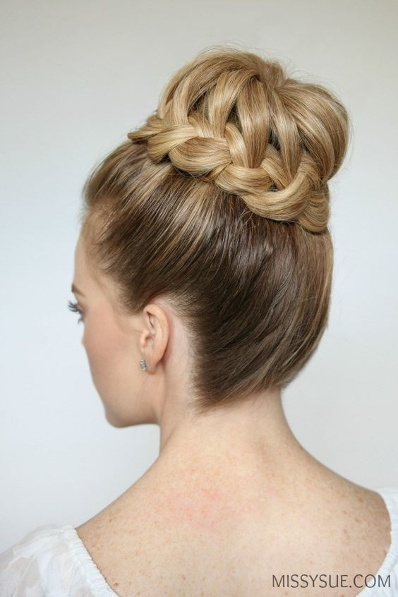 Prom-peinado trenzado-BUN-tutorial