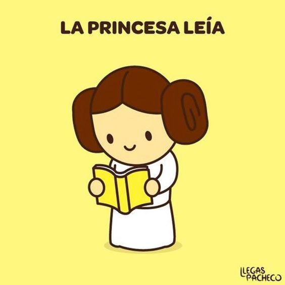 La princesa leía. Quien sabe de Guerra de las Galaxias, sabe.
