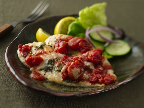 Tilapia Tomato Basil Fillets  I make this almost once a week.  We love it!!