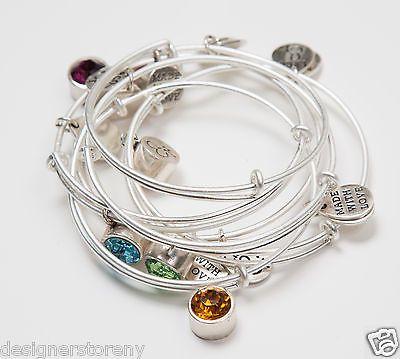 ROCO by Rodrigo Otazu set of 6 Silver plated bangles bracelets w/ multi stones