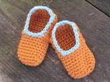 Simple Crochet Baby Slippers