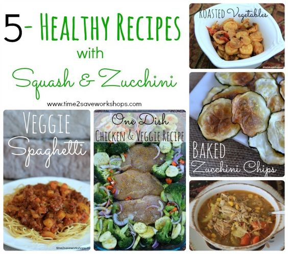Here are 5 fabulous recipes with squash and zucchini that are healthy too. #recipes #bestrecipes