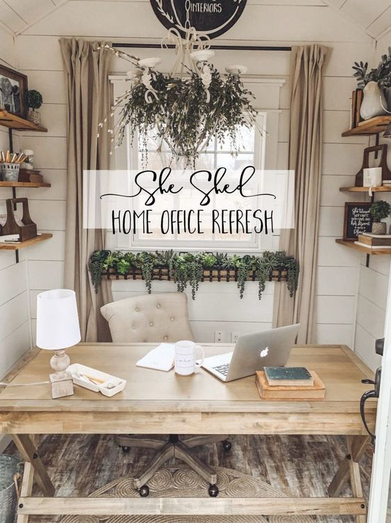 A She Shed Office Refresh! - Cotton Stem