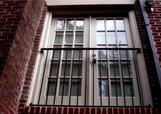 Patio Door Barrier Railing Inside Outside Upside Down