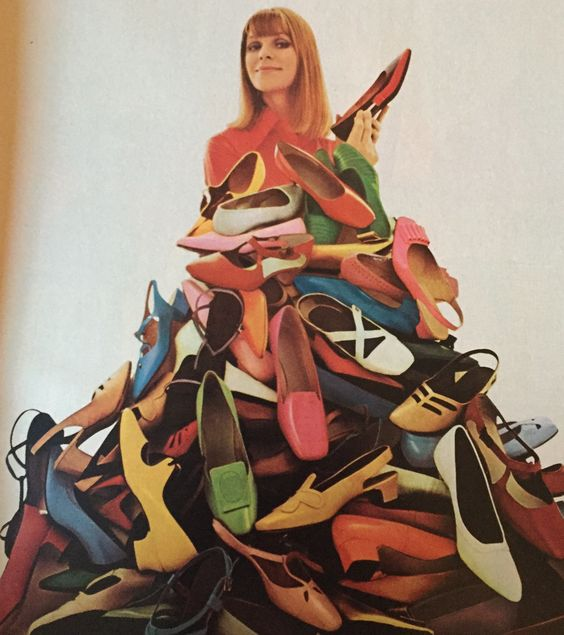 1960s mountain of shoes