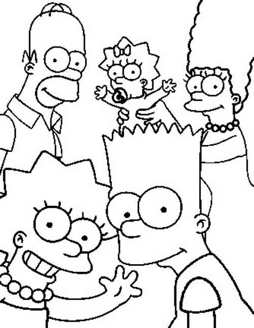 Pin By Raquel Milato On Desenhos Para Colorir Simpsons Drawings Simpsons Coloring Pages Family Coloring Pages