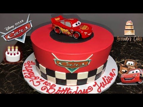 Disney Cars Cake Youtube With Images Disney Cars Cake Cars