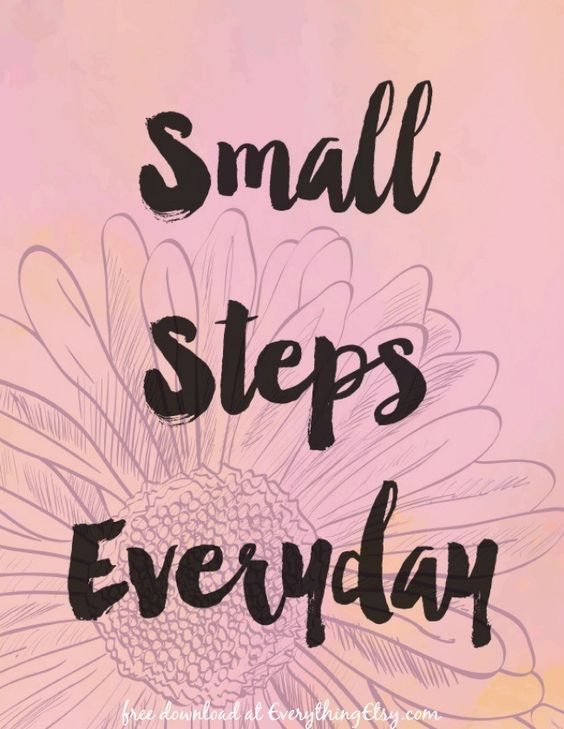 Small Steps Everyday {Free Printable}: