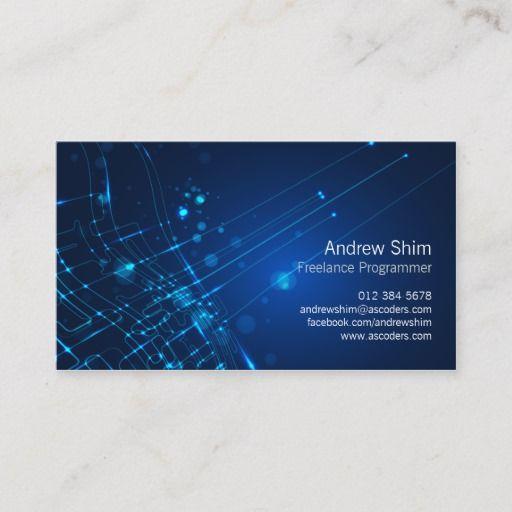 Computer Programmer Business Card Light Circuits Zazzle Com In 2021 Computer Programmer Computer Geek Gifts Programmer