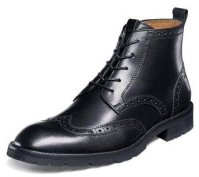 Black Wingtip Boots Men Images House Shoes Leather