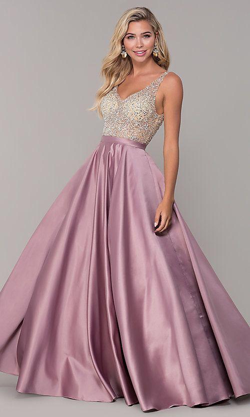 A Line Long V Neck Prom Dress With Pockets Dresses Prom Dresses With Pockets Prom Dresses