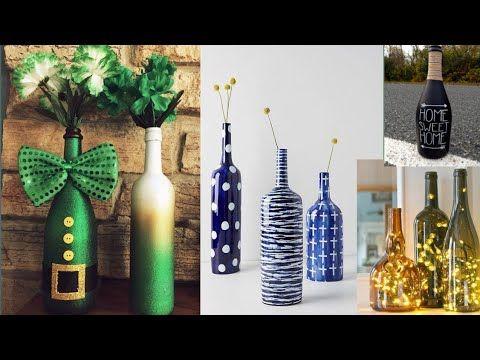 Glass Bottle Decoration Ideas Home Decor Best Out Of Waste Art Youtube Bottles Decoration Glass Bottles Decoration Home Decor