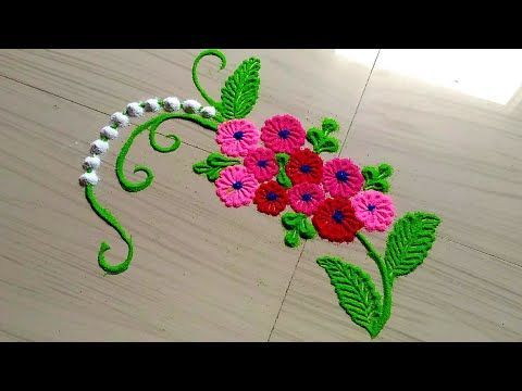 Small And Daily Rangoli Design Rangoli Designs With Flowers By Jyoti Rathod Rangoli Designs Flower Rangoli Designs Rangoli Designs Images