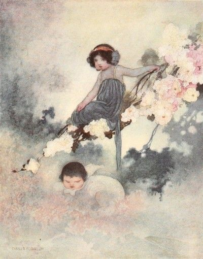 """From Oscar Wilde """"The Happy Prince, and Other Stories"""". Illustrated by Charles Robinson."""
