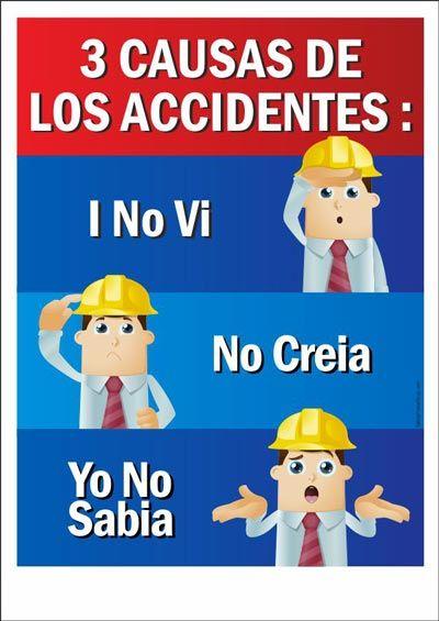 3 Causas De Los Accidentes Higiene Y Seguridad En El Trabajo Prevencion De Accidentes Laborales Carteles De Seguridad