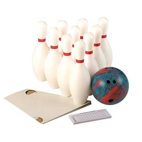 Plastic Play Toys Indoor 10 Bowling Pins 2 Balls Physical Children Bowling Set