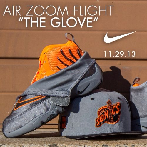 8e423a24a6443 Online Nike Zoom Flight The Glove Cool Grey Black-Total Orange 6 ...