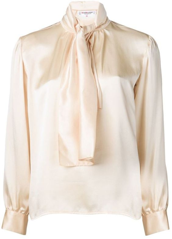 Yves Saint Laurent Vintage tie neck blouse