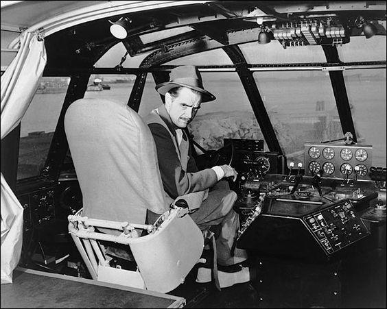 Aviator Howard Hughes Spruce Goose Cockpit Photo Print for Sale