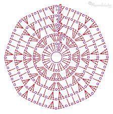 Resultado de imagen para mandalas crochet patrones: