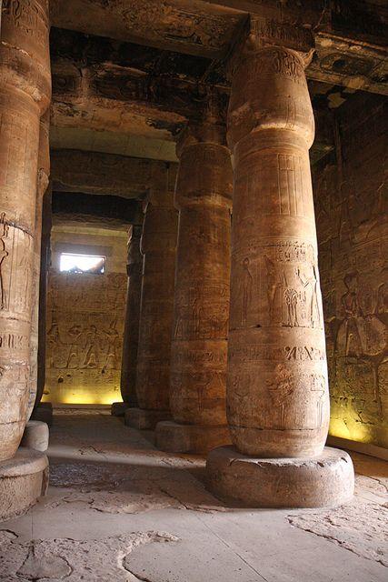Templo de Sethi I en Abidos , Primera sala Hipóstila , Abydos. | por Soloegipto